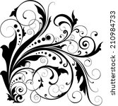 floral leaf dot swirl design | Shutterstock .eps vector #210984733