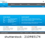 a website template design | Shutterstock . vector #210985174