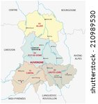 administrative,auvergne,border,borderline,burgundy,cartography,centre,clermont,departement,europe,ferrand,france,geography,languedoc-roussillon,limousin