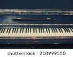 vintage retro piano | Shutterstock . vector #210999550