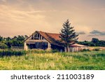 Old Broken Farm In The...