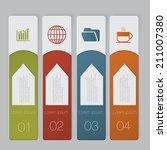 infographic. design number... | Shutterstock .eps vector #211007380