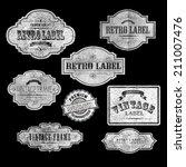 set of vintage labels  vector... | Shutterstock .eps vector #211007476