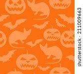 halloween seamless pattern. | Shutterstock .eps vector #211009663