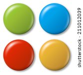4 colored magnets | Shutterstock . vector #211012039