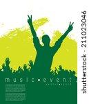 music event illustration.... | Shutterstock .eps vector #211023046