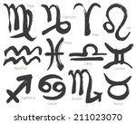 collection of zodiac signs ... | Shutterstock .eps vector #211023070