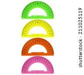 color protractor | Shutterstock . vector #211025119