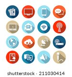 set of icons representing media ... | Shutterstock .eps vector #211030414