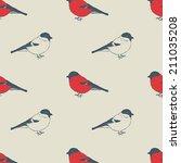 seamless vector vintage pattern ... | Shutterstock .eps vector #211035208