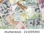 different foreign currency... | Shutterstock . vector #211035343