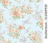 fresh spring flowers seamless... | Shutterstock . vector #211069930