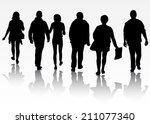 group of people | Shutterstock .eps vector #211077340