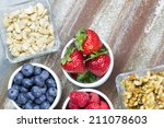healthy snack foods with small... | Shutterstock . vector #211078603