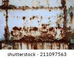 rusty metal wall   Shutterstock . vector #211097563