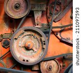 rusty colorful detail of an old ... | Shutterstock . vector #211097593