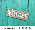 Rustic Wood Welcome Sign...