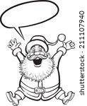 coloring book of santa claus... | Shutterstock . vector #211107940