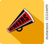 vector bullhorn symbol   flat... | Shutterstock .eps vector #211114693