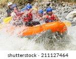 white water rafting team in... | Shutterstock . vector #211127464