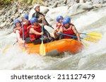 White Water Rafting Team In...