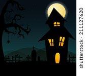 abstract happy halloween...   Shutterstock .eps vector #211127620