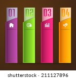 colorful modern text box... | Shutterstock .eps vector #211127896