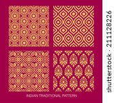 indian pattern collection. come ... | Shutterstock .eps vector #211128226