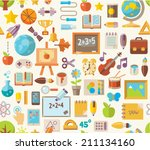 back to school  seamless... | Shutterstock .eps vector #211134160