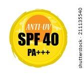 anti uv grunge rubber stamp...   Shutterstock . vector #211135540