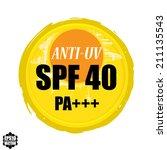 anti uv grunge rubber stamp...   Shutterstock .eps vector #211135543
