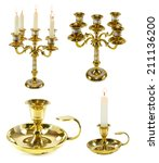 Set With Candle Holders...