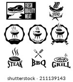 bbq grill vector labels... | Shutterstock .eps vector #211139143