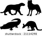 wildlife silhouettes | Shutterstock .eps vector #21114298