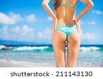 beautiful sexy young woman in... | Shutterstock . vector #211143130