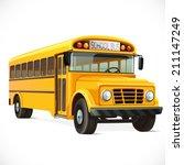 vector yellow school bus ... | Shutterstock .eps vector #211147249