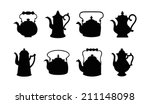 Set Of Isolated Icon Silhouett...