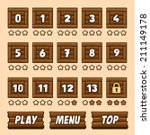 wooden box level selection...