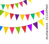 party bunting | Shutterstock .eps vector #211149964