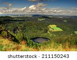 panorama landscape view over... | Shutterstock . vector #211150243