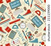 school seamless pattern | Shutterstock . vector #211159000