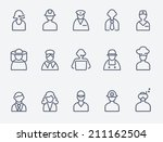 professionals  people icons | Shutterstock .eps vector #211162504