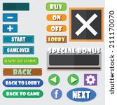 simple game buttons  vector ...