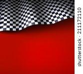 checkered flag. vector... | Shutterstock .eps vector #211172110