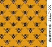 Seamless Bumblebee Pattern