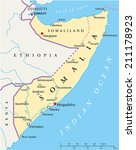 somalia political map with... | Shutterstock .eps vector #211178923