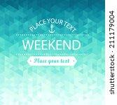 abstract weekend  summer water... | Shutterstock .eps vector #211179004