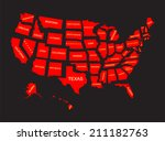 united states of america 50... | Shutterstock .eps vector #211182763