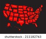 united states of america 50... | Shutterstock .eps vector #211182763
