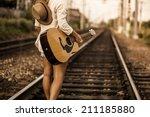 Girl Walking On Railway Wish...